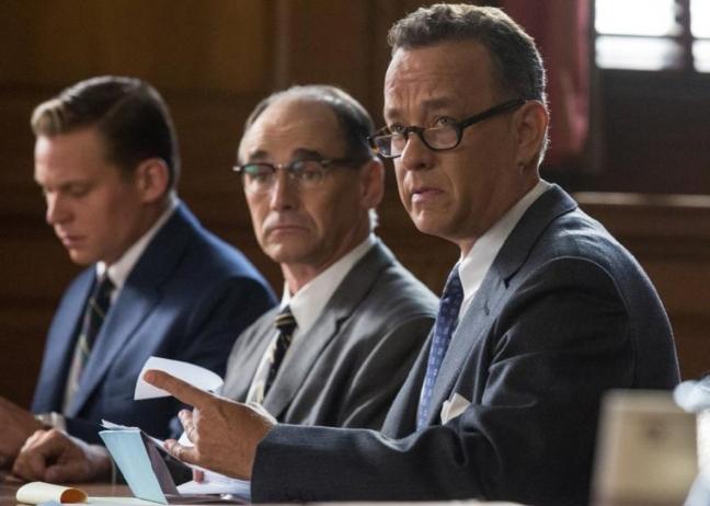 Mark Rylance and Tom Hanks shine.