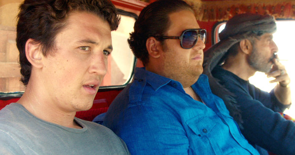 Miles Teller and Jonah Hill with the Marlboro Man