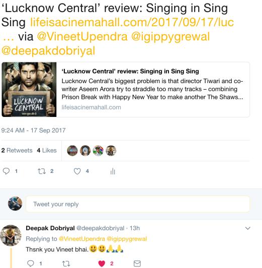 Deepak Dobriyal reacts